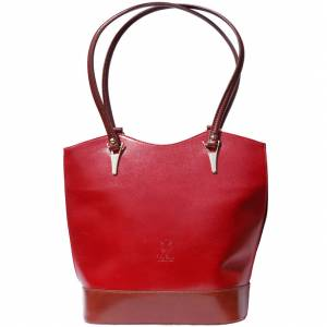 Greta convertible leather backpack