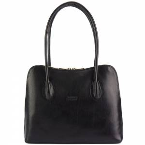 Claudia V leather shoulder bag