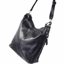 Betta leather shoulder bag