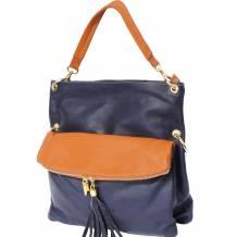 Monica leather shoulder bag