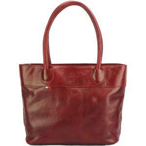 Tote V bag in leather