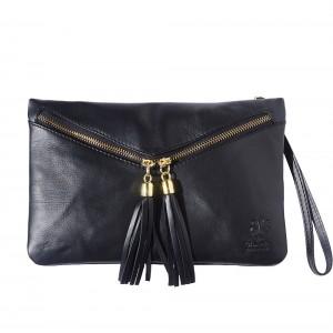Rufina leather clutch