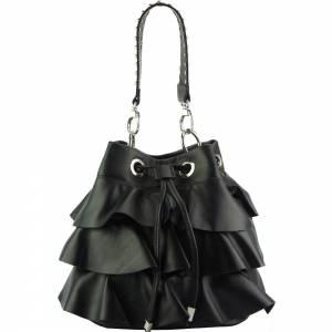 Ileana leather bucket bag