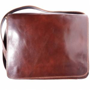 Christopher GM Messenger bag in cow leather