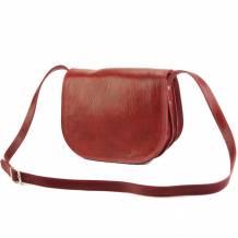 Ines leather shoulder bag