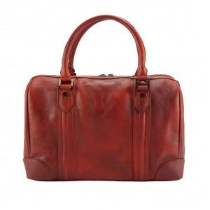 Fulvia Leather Boston Bag