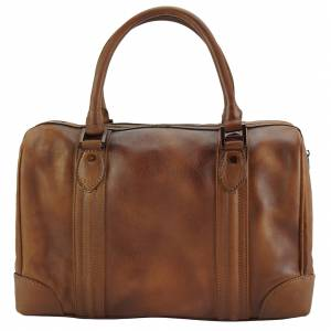 Fulvia GM Leather Boston Bag