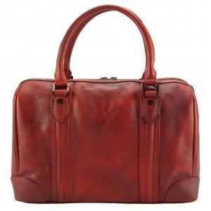 Fulvia GM Leather Boston Bag