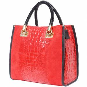 Open Tote leather bag