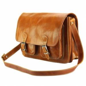 Pamela Leather Messenger Bag