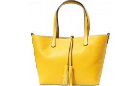 Belinda leather shopping bag