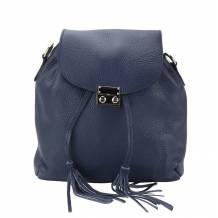 Bougainvillea leather backpack