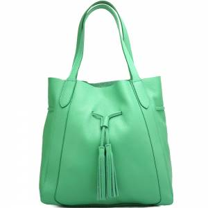 Belinda leather shopping bag