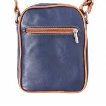 Man's shoulder bag in soft genuine calf-skin leather