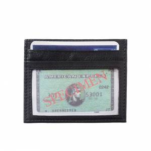 Credit card holder with transparent window