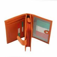 Flora leather wallet