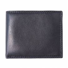 Leather wallet for man with zip-pocket for coins
