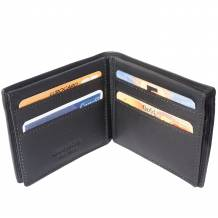 Medium wallet in calf-skin soft leather with double flap