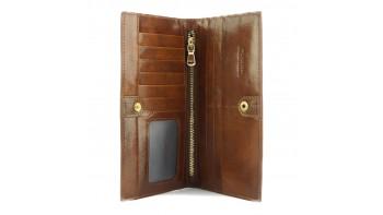 Bernardo V Wallet in cow leather
